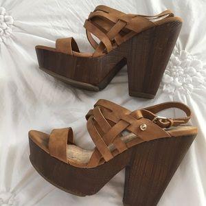 Guess Platform Wedge Sandals